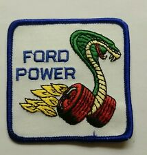 Brand new FORD Power Cobra embroidery patch iron on jacket shirt logo