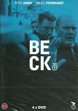 Beck box with films 21-24 Swedish detective serie English subtitle new 4xDVD set
