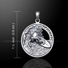 Surf's Up .925 Sterling Silver Pendant by Peter Stone