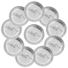 2017-P Australia $1 1 Troy oz. .9999 Silver Kangaroo - Lot of 10 Coins SKU43584