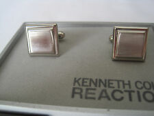Kenneth Cole Reaction Cufflinks, Square, Brushed Silver-Tone