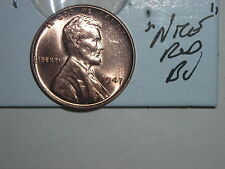 wheat penny 1947 NICE RED BU 1947-P UNC. LINCOLN CENT GREAT RED LUSTER LOT #1