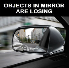 2X White OBJECTS IN MIRROR ARE LOSING Car Mirror Vinyl Decal Sticker JDM Racing