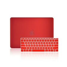 "2 IN1 RED Rubberized Case for Macbook 12"" Retina Model A1534 with Keyboard Cover"