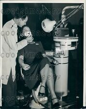 1939 Dentist Dr Didrik Sannes of Madison WI At Work on Patient Press Photo