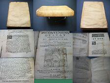 MARANDÉ - Inconvénients d'État procédant du Jansénisme - Édition originale 1654