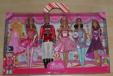 Barbie in der Nußknacker  4-Pack  Ken und 3 Barbie  + 2 Extra Outfits