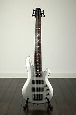Pittsburgh 6 string BASS guitar electric Active Passive METALLIC GREY silver UK