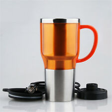 450ml Portable in Car Coffee Maker Tea Pot Vehicle Thermos Heating Cup Lid