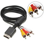 Audio Video AV Cable Cord Wire to 3 RCA TV Lead for Sony Playstation PS1 PS2 PS3