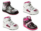 GIRLS OFFICIAL HELLO KITTY HI TOP TRAINERS VELCRO PUMPS SHOES BOOTS UK SIZE 8-2