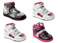 GIRLS OFFICIAL HELLO KITTY HI TOP TRAINERS PUMPS SHOES BOOTS UK SIZE 8-2