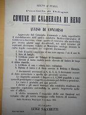 1881-COMUNE DI CALDERARA DI RENO-AVVISO DI CONCORSO-Condotta Medico Chirurgica