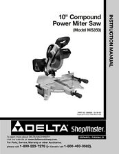 "Delta Shopmaster MS350 10"" Compound Power Miter Saw Instruction Manual"