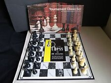 1955 ES Lowes Milton Bradley Staunton Tournament Chess Set Beginner Book Vintage