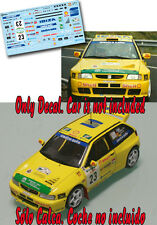 Decal 1:43 Antonio Ortega - SEAT IBIZA KIT CAR - Rally El Corte Ingles 1998