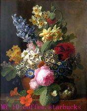 """Art Repro oil painting:""""beautiful flower at canvas"""" 24x36 Inch #007"""
