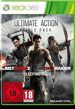 Microsoft XBOX 360 Spiel * Tomb Raider 2013 + Just Cause 2 + Sleeping Dogs **NEU