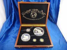 1992 Equatorial Guinea 15000 7000 Francos .900 Gold Coins .999 Silver Coins