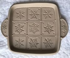 Brown Bag Cookie Art 2001 Snowflake Shortbread Pan Mold by Hill Design