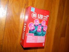 35 Pink Color Dome Lights LED Efficient Energy $aving Durable Light Set