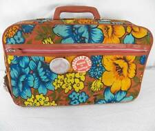 Groovy Mod Hippy Flower Child Bantam Travelware Mini Suitcase Bag Luggage 1960s
