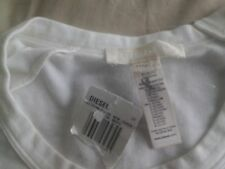 NWT Diesel Tank Top Sleeveless Tee Size L White