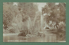 C1920'S RP PC BURGER'S PARK, PRETORIA, SOUTH AFRICA - POND, FOUNTAINS, KIOSK