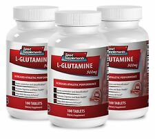 L-Glutamine Supplement - L-GLUTAMINE 500mg - Muscle Mass Gainer Pills 3B
