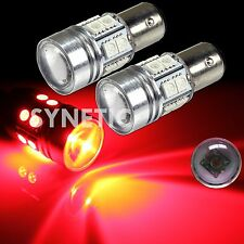 2x 1156 High Power Cree Red Brake/Stop/Tail/Turn Signal LED Light Bulbs