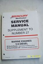 MERCRUISER #27 SUPPLEMENT D7.3L D-TRONIC and D-TRONICLD MANUAL Published 1999