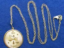 "$28 Nordstrom LIBRA Horoscope Sign Zodiac Pendant Necklace Goldtone 36"" Chain"