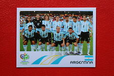 PANINI FIFA WORLD CUP GERMANY 2006 06 n. 169 ARGENTINA TEAM MINT!!!