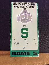 2000 OHIO STATE BUCKEYES VS MICHIGAN STATE SPARTANS FOOTBALL TICKET STUB 11/4