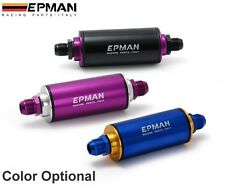 Epman Racing Ready Inline Fuel Filter AN10 10 AN Blue with 100 Micron Element