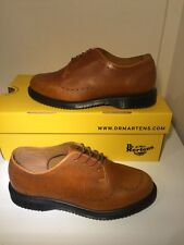 NUOVO! sz4 Dr. Martens sharlotte Airwair Bouncing Suole Scarpe Marroni in Pelle eu37