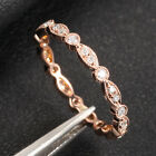 Art Deco Antique Style .32ct Diamond Milgrain 14K Rose Gold Wedding Band Ring