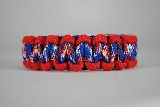 550 Paracord Survival Bracelet Cobra Red/Americana Camping Tactical Military