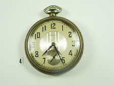 Antique Elgin Mens Pocket Watch Silver Railroad Style.
