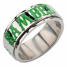 Authentic Sons Of Anarchy Unisex Shamrock Ireland Clover Spinner Soa Ring Size 6