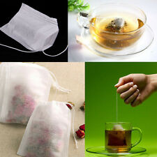 100Pcs Disposable String Drawstring Empty Heat Seal Filter Paper Herb Tea Bags