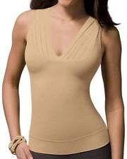 NEW Spanx On Top and In Control Draped V Sleeveless STYLE 972 soft Gold Size:LRG