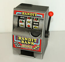 VINTAGE SLOT MACHINE COIN BANK - BANDIT SAVINGS BANK CASINO