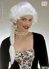 Mesdames longue perruque blanche avec plait duchesse Royalty vénitienne Déguisements
