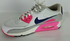 Nike Air Max 90 Shoes Women's 7.5 White Purple Pink Gray 325213-105 Running
