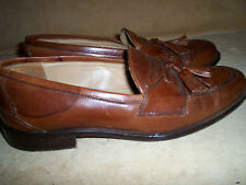 Johnston & Murphy Leather Cellini Brown Men's Loafers Dress Shoes 8M