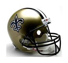 New Orleans Saints NFL Team Logo Riddell Deluxe Full Size Football Helmet