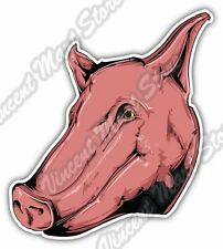 "Pig Head Butcher Meat Pork Bacon Boar Hog Car Bumper Vinyl Sticker Decal 4""X5"""