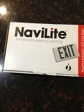 NaviLite Thermoplastic LED Exit Sign - NXPB3RWH