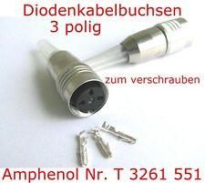 3 pol.Kabelbuchse Schraubverriegelung Steckverbinder Rundsteckverbinder Amphenol